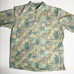 Reyn Spooner Eddy Y Popover Shirt Hawaiian XXL